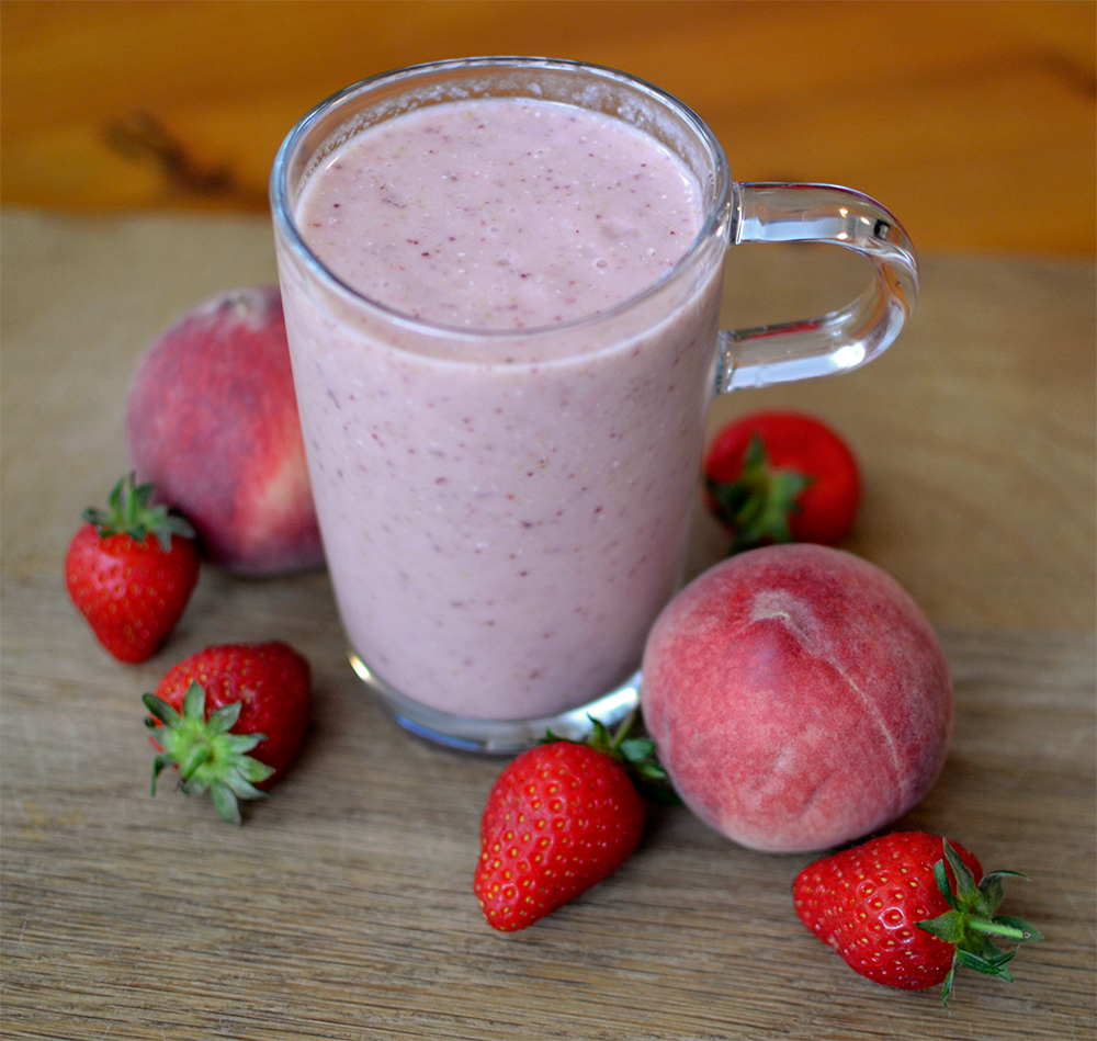 strawberry and peach smoothie