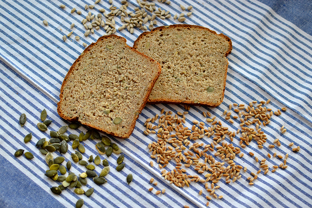 German mixed grain and seed bread