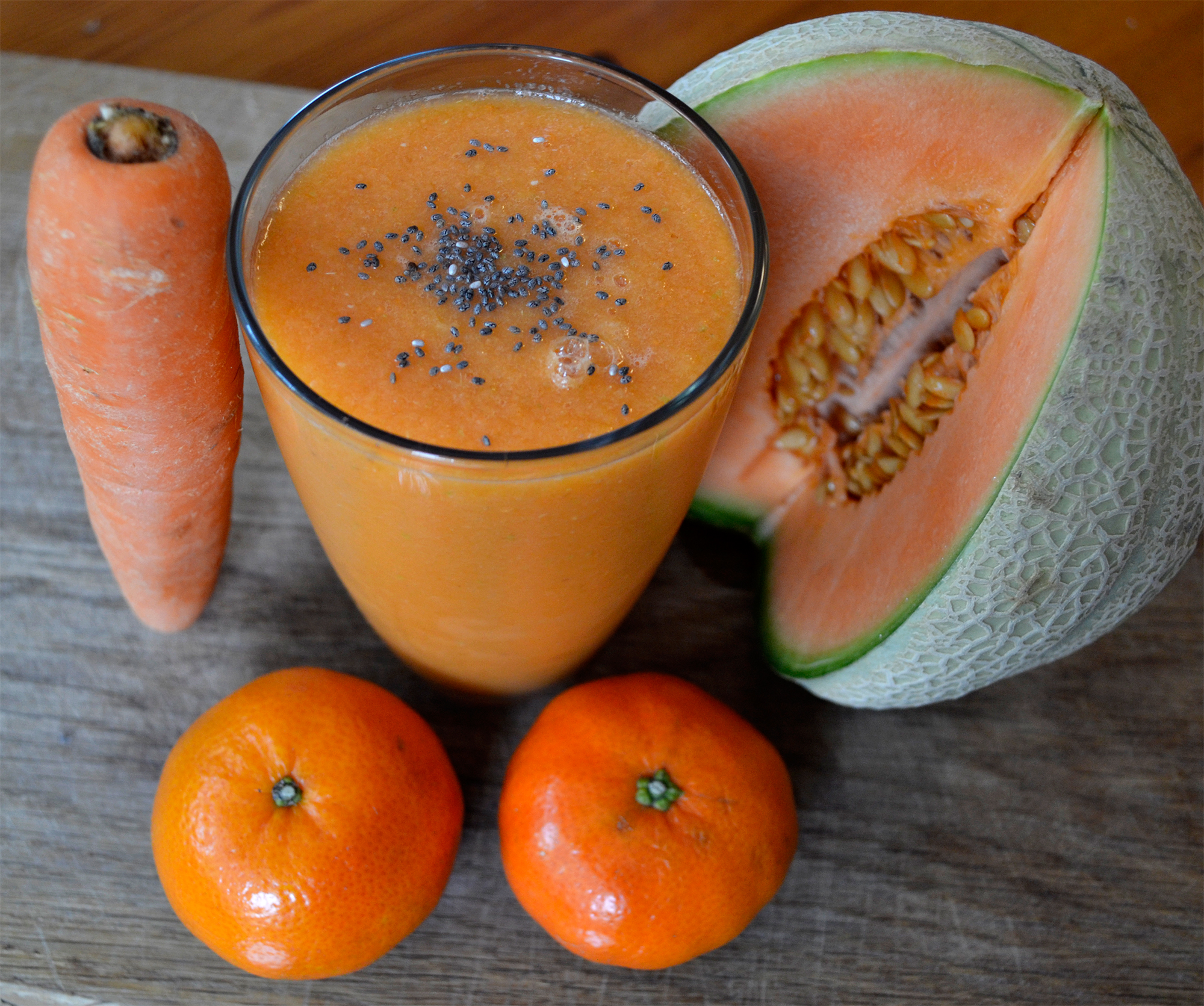 carrot melon tangerine smoothie