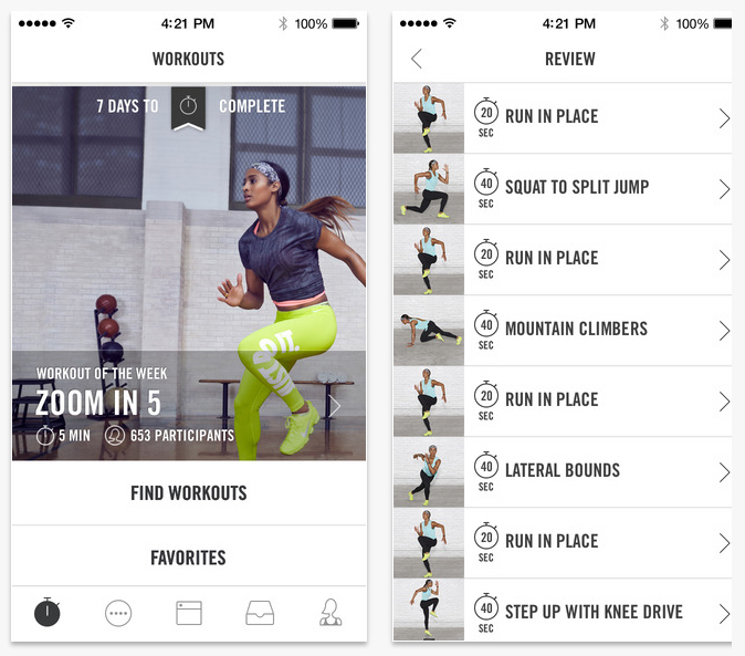 Nike Training Club - easily the best app I've ever tried